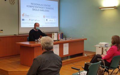 Održan 1. promotivni sastanak s inovatorima u sklopu projekata Regionalnog centra kompetentnosti Tehničke škole Karlovac